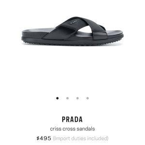 6385770f6 Prada Shoes - Authentic Prada men s Criss cross sandals